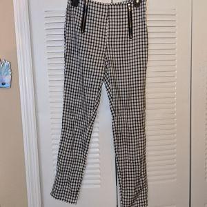 Women's xs/s vintage style Gangnam/plaid pants
